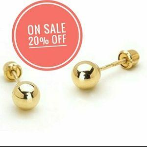 14k Yellow Gold 4mm Ball Screwback Earrings